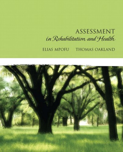 Assessment in Rehabilitation and Health   2010 edition cover