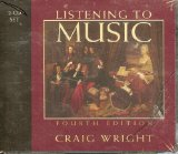 2-Cd Set for Wright's Listening to Music, 4th 4th 2004 9780534603748 Front Cover