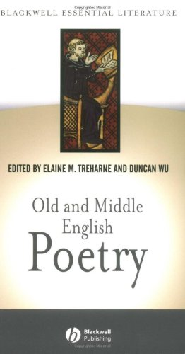 Old and Middle English Poetry   2002 edition cover