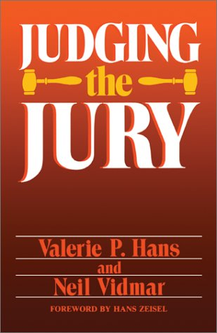 Judging the Jury  N/A 9780738205748 Front Cover