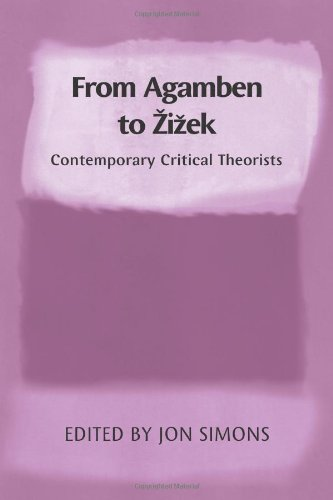 From Agamben to Zizek Contemporary Critical Theorists  2010 9780748639748 Front Cover