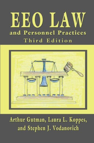 EEO Law and Personnel Practices  3rd 2011 (Revised) 9780805864748 Front Cover