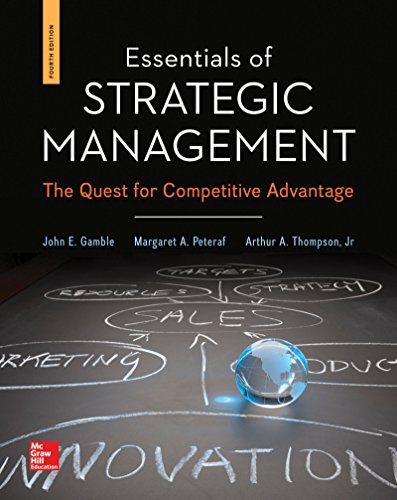 Essentials of Strategic Management with BSG/GLO-BUS Access Card  4th 2015 edition cover