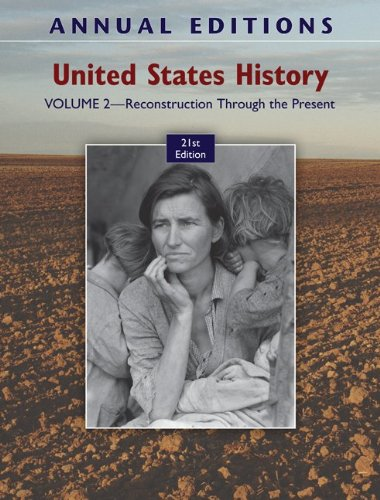 United States History Reconstruction Through the Present 21st 2011 edition cover
