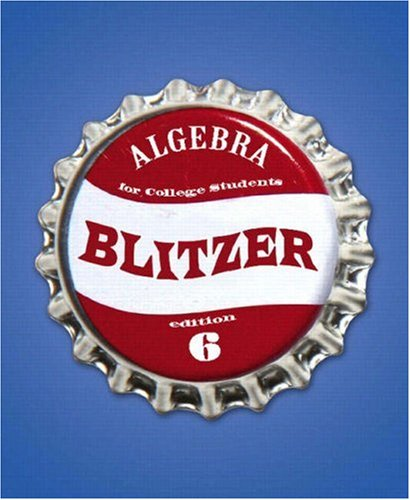 Algebra for College Students  6th 2009 edition cover