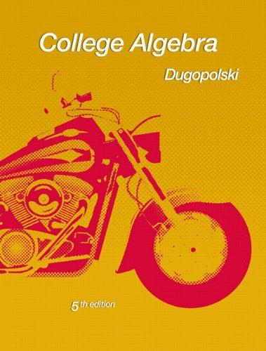 College Algebra  5th 2011 edition cover