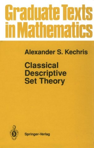 Classical Descriptive Set Theory   1995 9780387943749 Front Cover