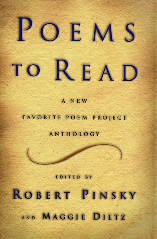 Poems to Read A New Favorite Poem Project Anthology  2002 9780393010749 Front Cover
