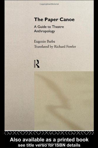 Paper Canoe Guide to Theatre Anthropology  1994 edition cover