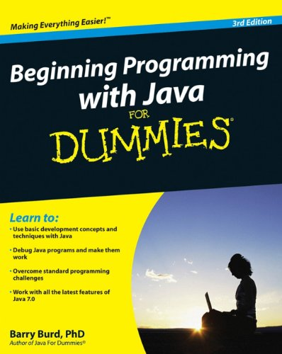 Beginning Programming with Java for Dummies  3rd 2012 edition cover