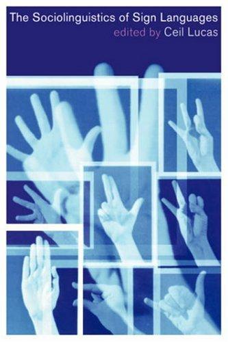 Sociolinguistics of Sign Languages   2001 edition cover