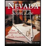 Nevada School Law Cases, Materials, and Nevada Constitution 6th 2003 (Revised) edition cover