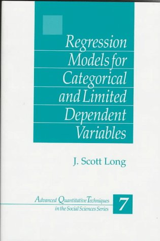 Regression Models for Categorical and Limited Dependent Variables   1997 edition cover