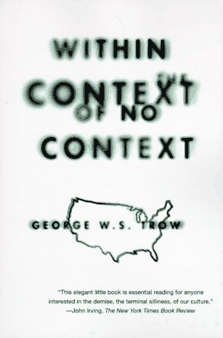 Within the Context of No Context  N/A edition cover