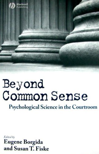 Beyond Common Sense Psychological Science in the Courtroom  2007 edition cover