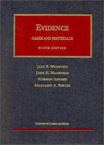 Evidence  9th 1997 (Revised) edition cover