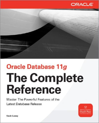 Oracle Database 11g The Complete Reference  2009 edition cover