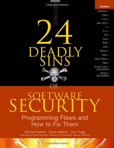 24 Deadly Sins of Software Security Programming Flaws and How to Fix Them  2010 edition cover