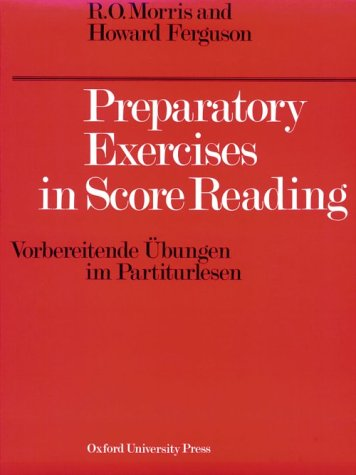 Preparatory Exercises in Score Reading   1931 edition cover