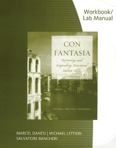 Con Fantasia Reviewing and Expanding Functional Italian Skills 3rd 2009 edition cover