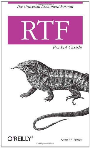 RTF Pocket Guide   2003 9780596004750 Front Cover
