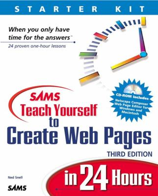 Sams Teach Yourself to Create Web Pages in 24 Hours  3rd 2002 9780672320750 Front Cover