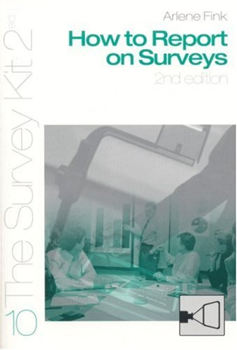 How to Report on Surveys  2nd 2002 (Revised) edition cover