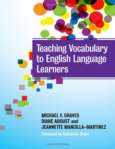 Teaching Vocabulary to English Language Learners   2012 edition cover
