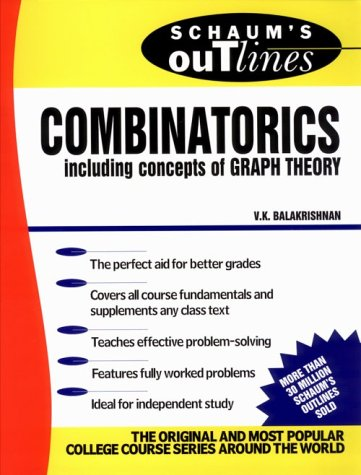 Schaum's Outline of Combinatorics   1995 9780070035751 Front Cover