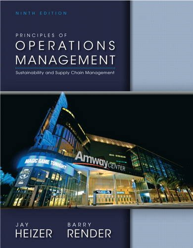 Principles of Operations Management  9th 2014 9780133130751 Front Cover