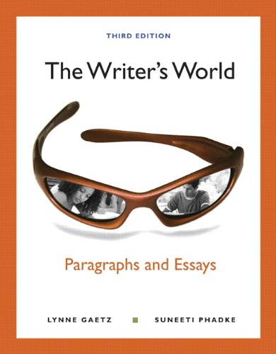 Writer's World Paragraphs and Essays 3rd 2011 edition cover