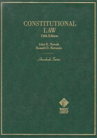 Hornbook on Constitutional Law 5th 1996 9780314061751 Front Cover
