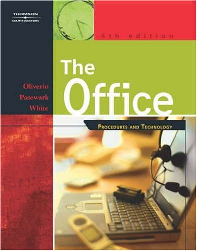 Office Procedures and Technology 4th 2003 (Revised) 9780538434751 Front Cover