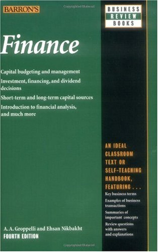 Finance  4th 2000 9780764112751 Front Cover