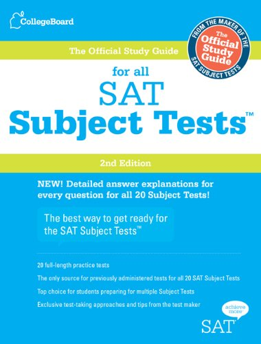 Official Study Guide for All SAT Subject Tests  2nd (Guide (Pupil's)) edition cover