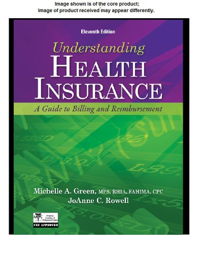 Understanding Health Insurance A Guide to Billing and Reimbursement 11th 2013 9781133283751 Front Cover