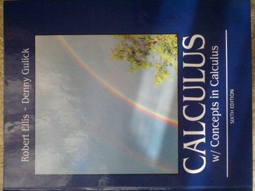 CALCULUS W/CONCEPTS IN CALCULUS         N/A 9781133436751 Front Cover