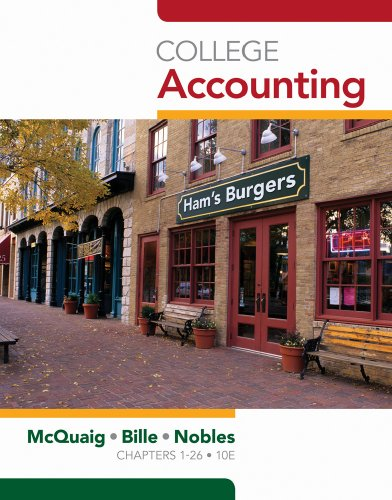 College Accounting, Chapters 1-24  10th 2011 edition cover