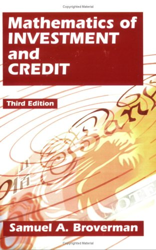 Mathematics of Investment and Credit 3rd 2004 edition cover