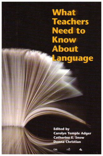 What Teachers Need to Know about Language  2002 edition cover