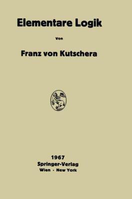 Elementare Logik   1967 9783709181751 Front Cover
