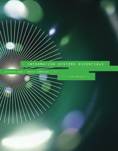 Information Systems Essentials  3rd 2009 edition cover
