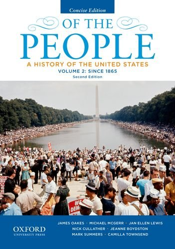 Of the People A History of the United States - Since 1865 2nd 2014 edition cover