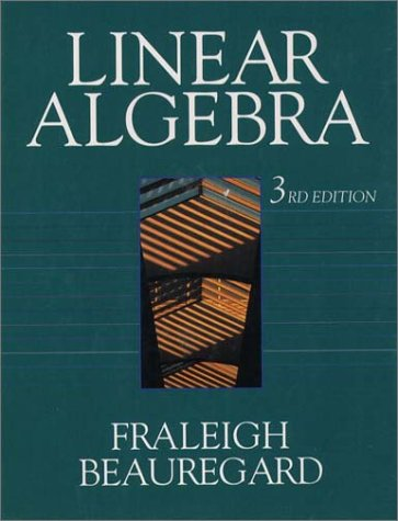 Linear Algebra  3rd 1995 (Revised) 9780201526752 Front Cover