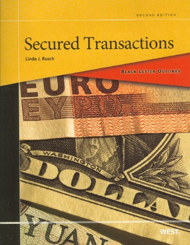 Black Letter Outline on Secured Transactions  2nd 2012 (Revised) edition cover