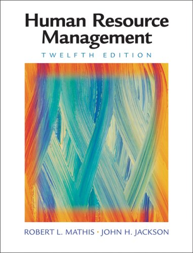 Human Resource Management  12th 2008 (Revised) edition cover