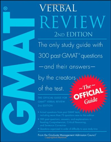 Official Guide for GMAT Verbal Review  2nd 2009 edition cover
