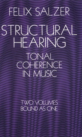Structural Hearing Tonal Coherence in Music  1982 edition cover