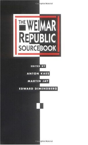 Weimar Republic Sourcebook   1995 edition cover