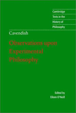 Margaret Cavendish Observations upon Experimental Philosophy  2001 edition cover